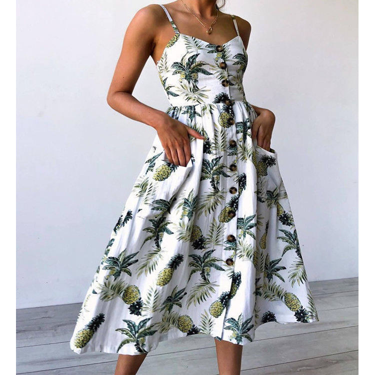 2019 many colors sexy hot floral summer beach sexy women dress