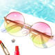 2020 New Arrival Manufacture Premium Round Colorful Elegant Trendy Metal UV Sunglasses Sun Glasses