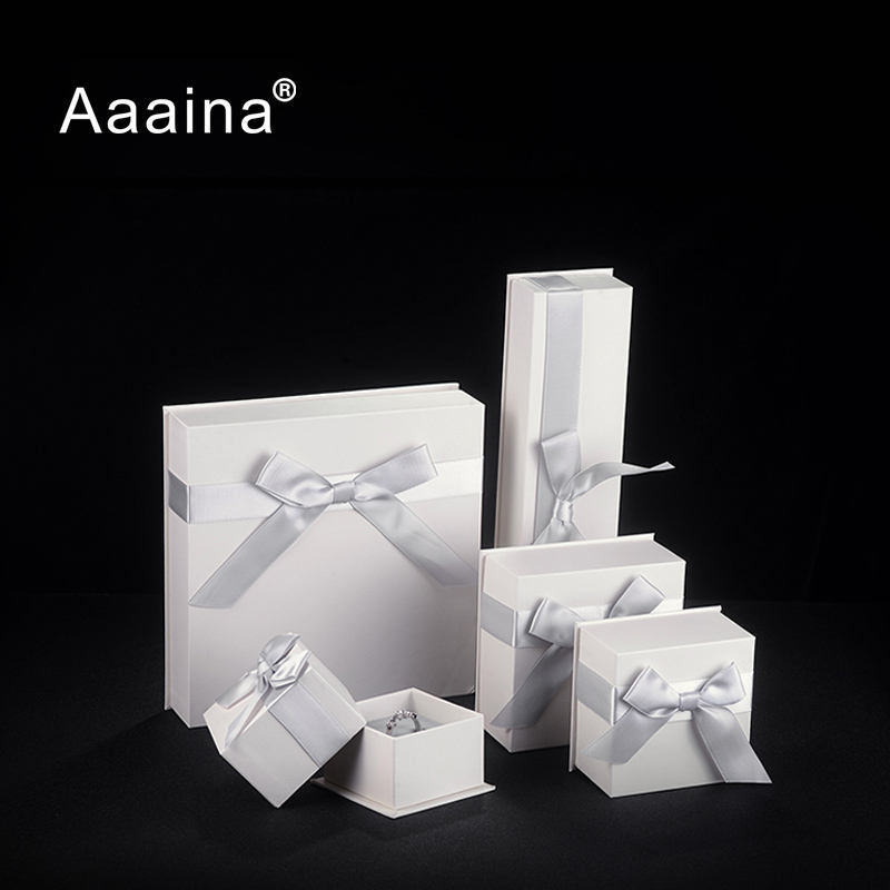 Factory Wholesale Retail Fine Quality Cardboard Gift Jewelry Packaging Boxes White Paper Jewellery Ring Box