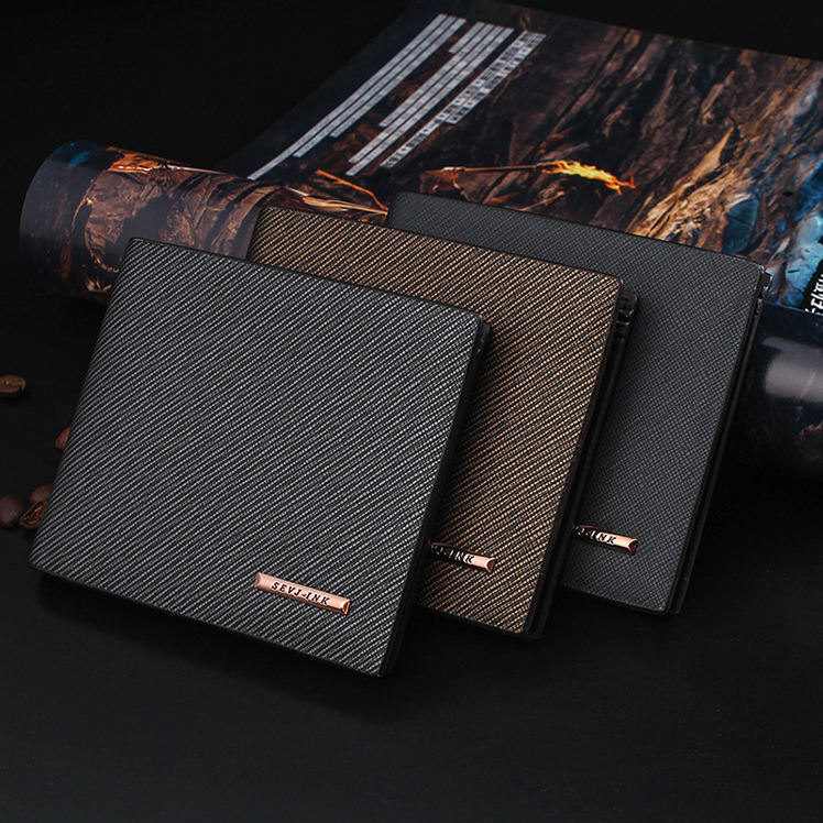2020 wholesale OEM Customized PU card holder wallet Purse Men's Slim Leather Wallet for men