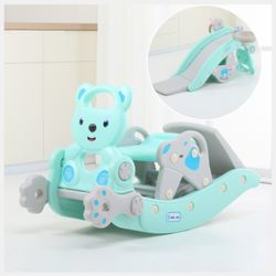 2020 New Arrivals Dual Use Foldable Cute Bear Small Eco-Friendly Funny Non-Toxic Kids Slip Slide Rocking Horse Rocker Sports Toy