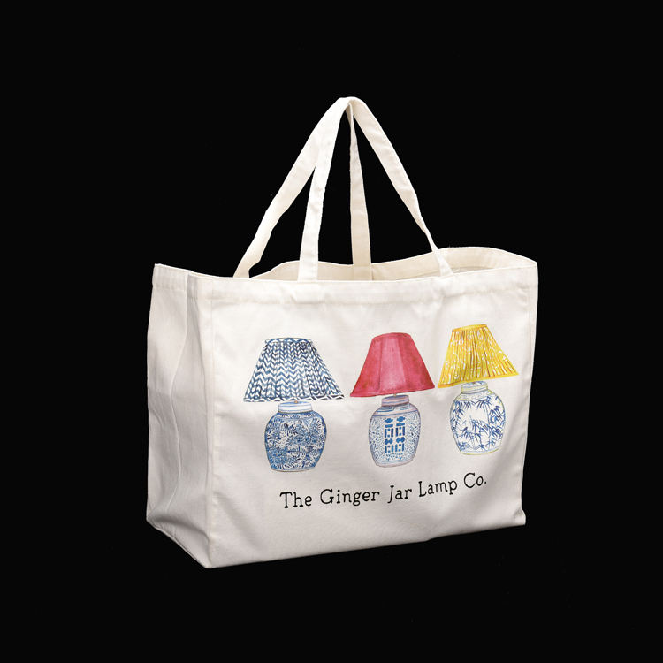 Reusable canvas grocery shopping bags grocery