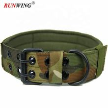 Tactical Camo Dog Collar Heavy Duty Military Service Dog Collar With Prong Metal Buckle Adjustable