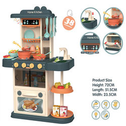 Hotsale 72CM Kitchen Toy Play Set with light,music and water outlet 38PCS For Kids