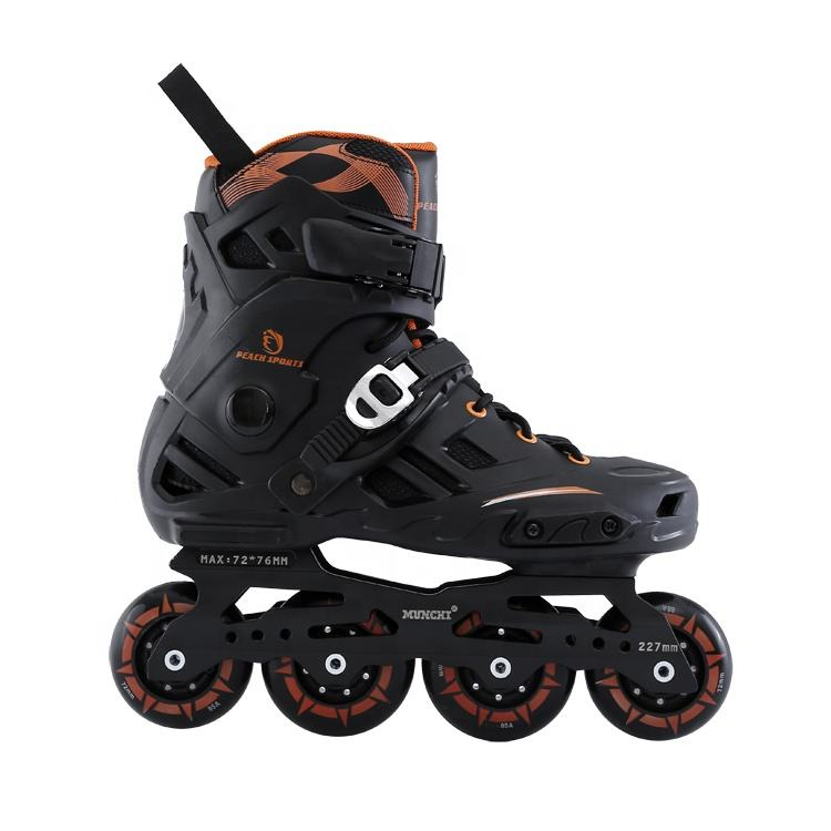 Durable Wholesale Price Freestyle Speed CNC Frame PU 4 Wheel Fashion Inline Skate Shoes