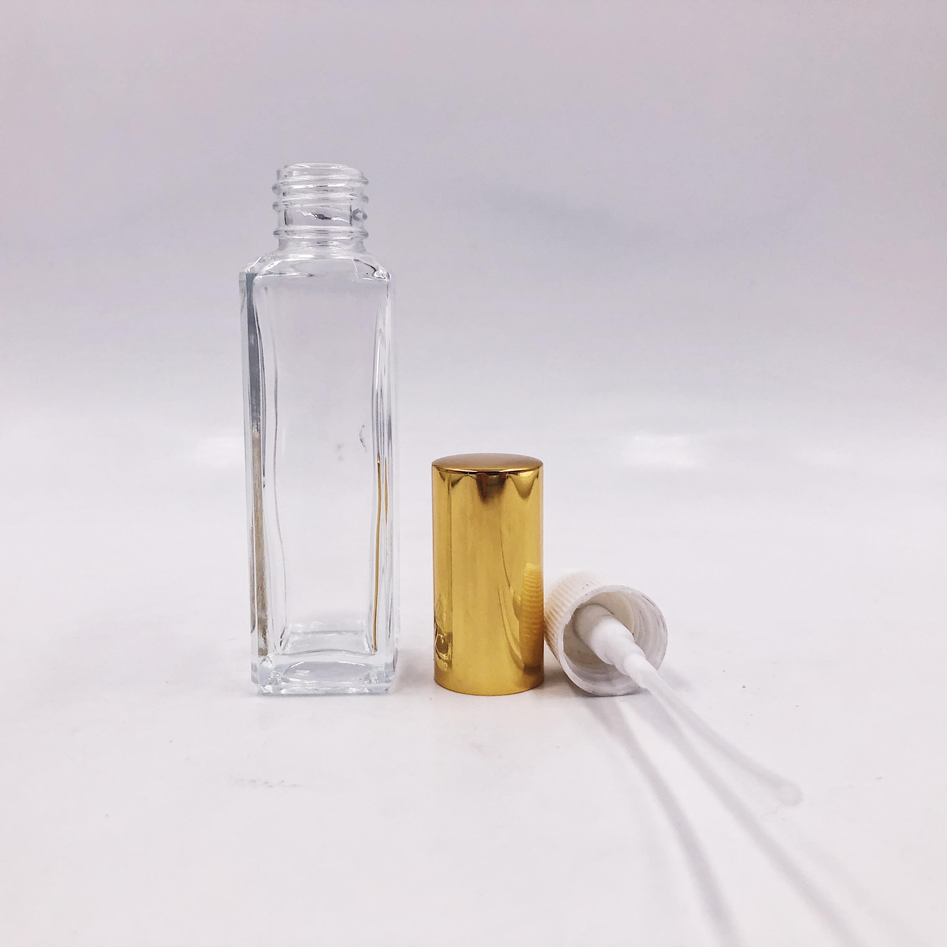 30ML Empty Atomizer square Perfume Glass Bottle with pump