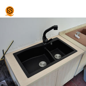 Guangzhou eco-friendly artificial stone black kitchen sink