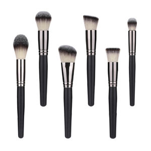 High Quality Vegan Synthetic Brushes Set Black Makeup Cosmetic Brushes set