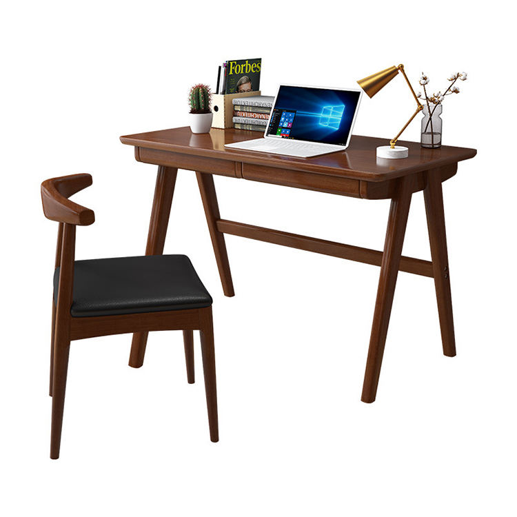 Simple household furniture student office desk solid wood economical desk with drawer