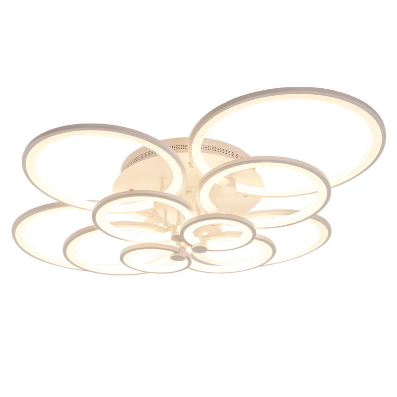 Fancy white acrylic 10 circles lamp led ceiling lights