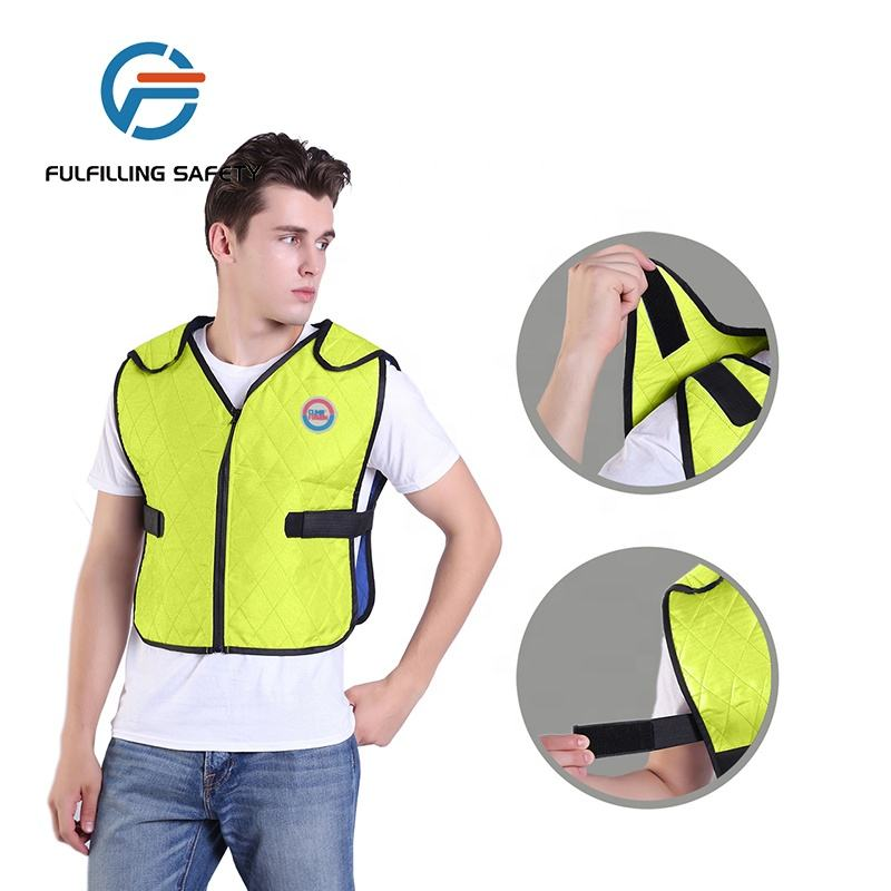 high quality evaporative body outdoor work cooling reflective safety vest