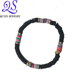 2020 Multi Handmade Diy Charming jewelry Soft Ceramic Elastic String Bead  Bracelet Whoselase For Women