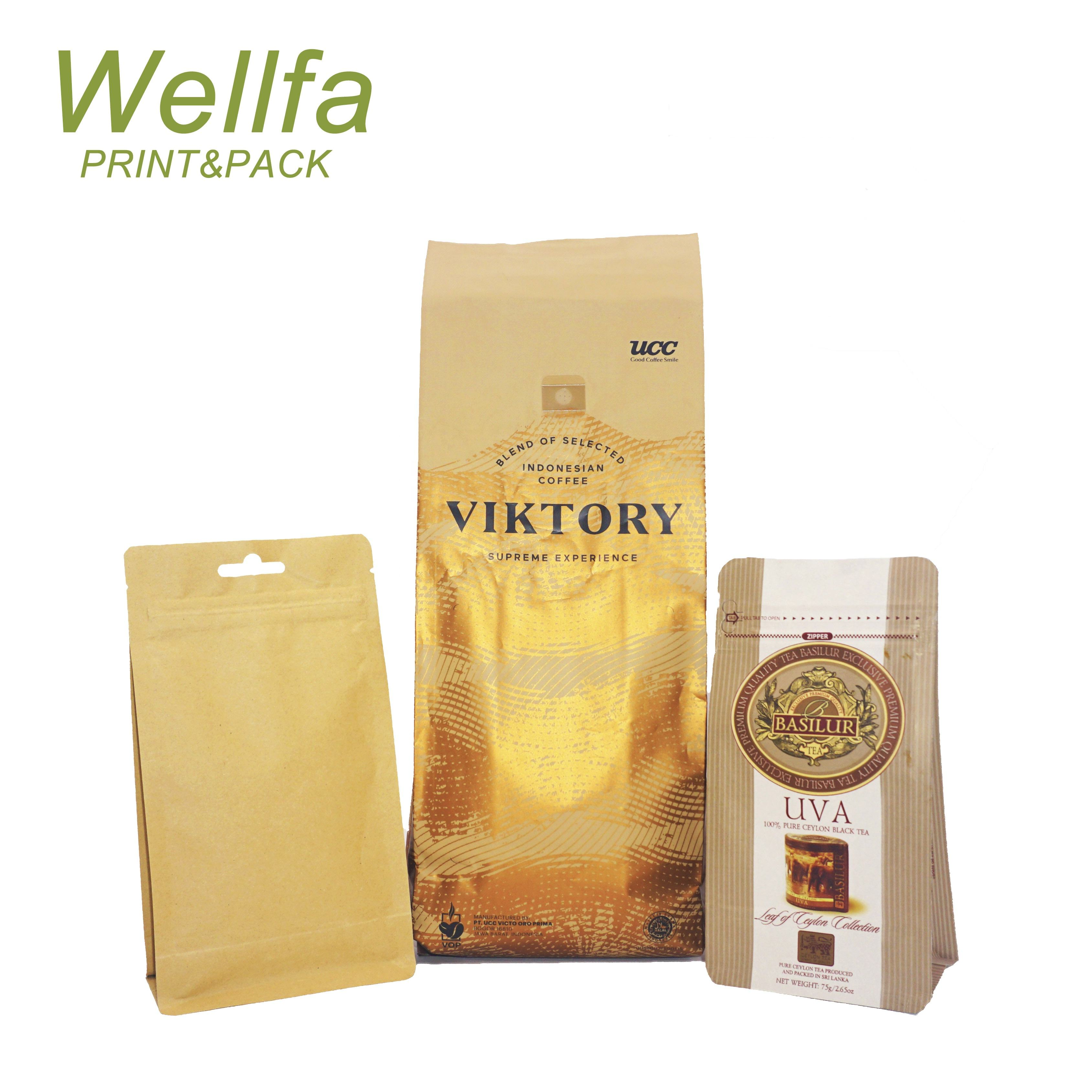 Packaging Bags Food Packaging Bag Manufacturer Kraft Paper / Matte / Glossy Finish Pouch With Foil Lined