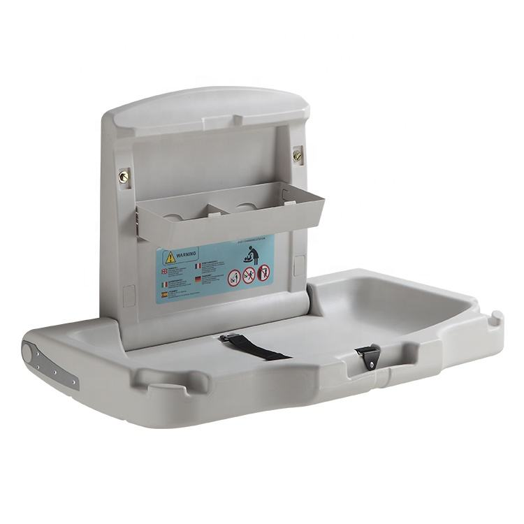 Kuaierte convenient baby changing station K8001A with sanitary pads diaper bag hooks and storage boxes