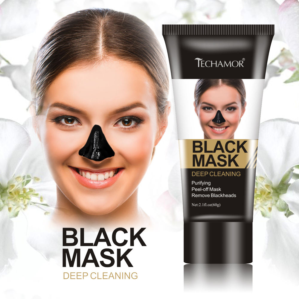Hot Black Mud Facial Meeëter Verwijder Peel Off Reinigen Modder <span class=keywords><strong>Masker</strong></span>