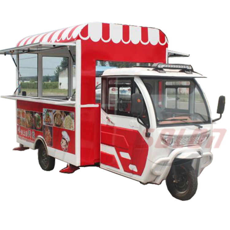 Street 3 wheel food truck ice cream tricycle freezer