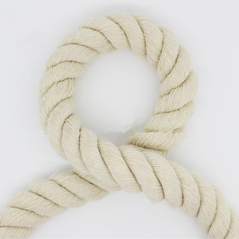 factory offer twisted customized 40mm cotton rope