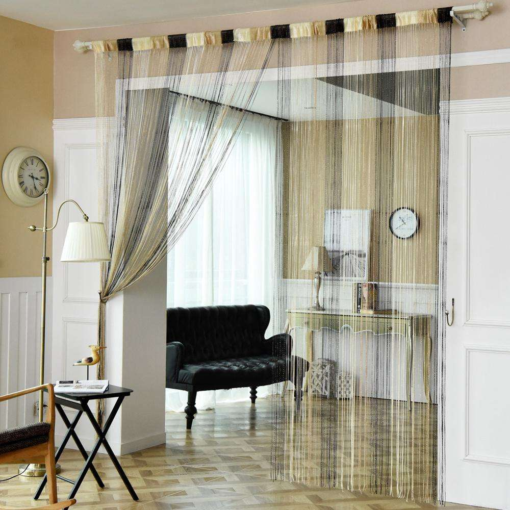 Wedding decoration 3m x 3m sequins knit fabric spaghetti string curtain for room divider