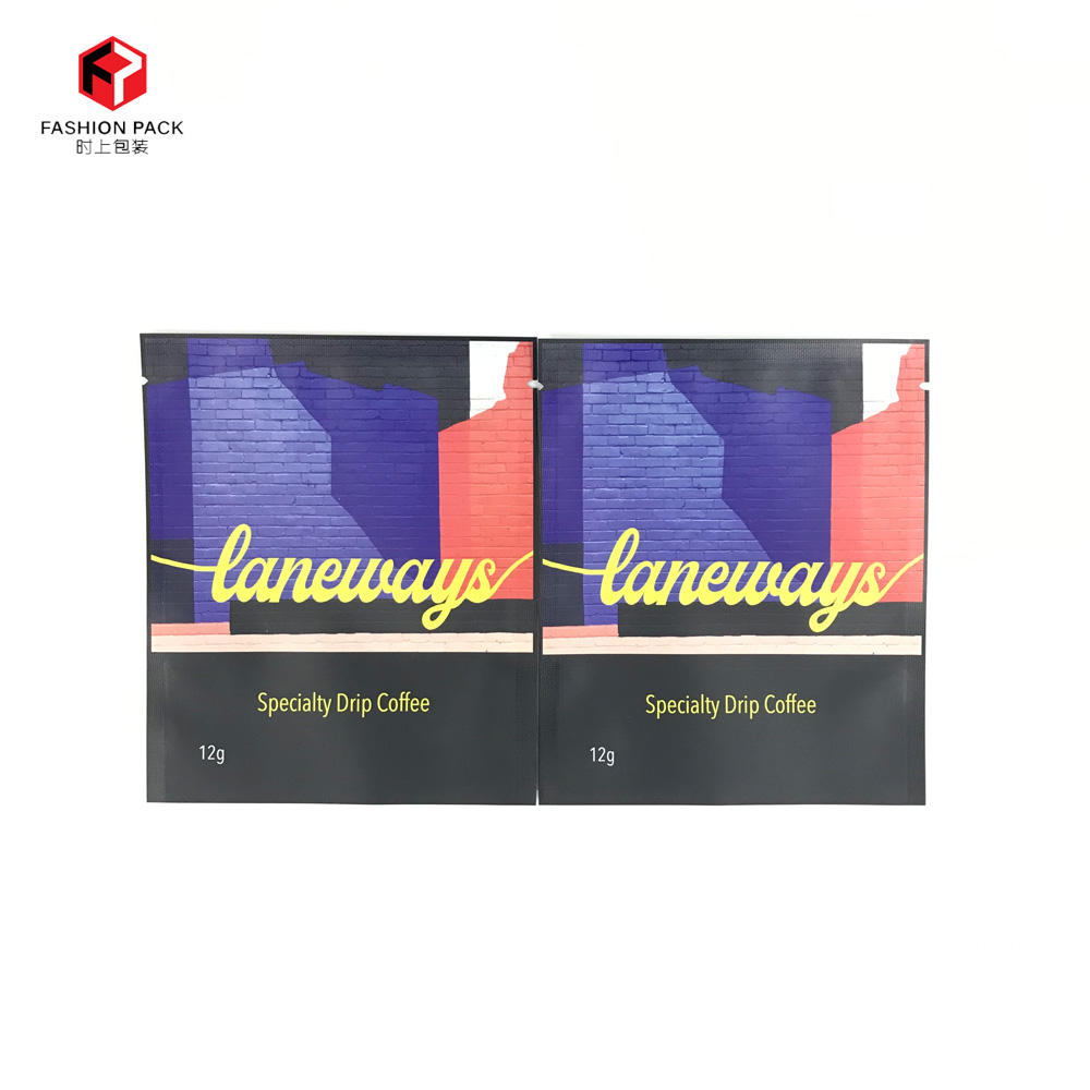 New Product Laneways Special Drip Coffee 3 Sided Seal Bag Plastic Aluminum Foil Packaging