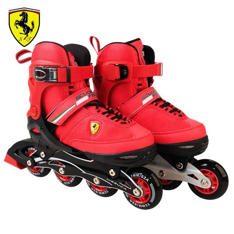 Ready to Ship High Quality Inline Skate Fast Dispatc FERRARI Adjustable professional competition In Stock roller skate