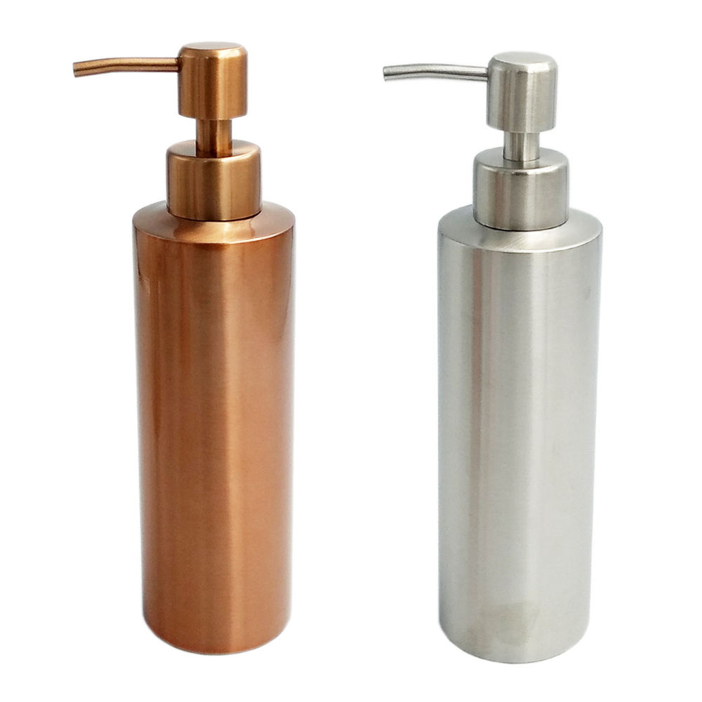 400ml/300ml/250ml/200ml/150ml luxury rust resistant stainless steel skin care refil push cosmetic cream soap pump lotion bottle