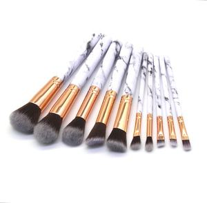 New Fashional Private Label Brushes Wholesale Marble Makeup Brush Set