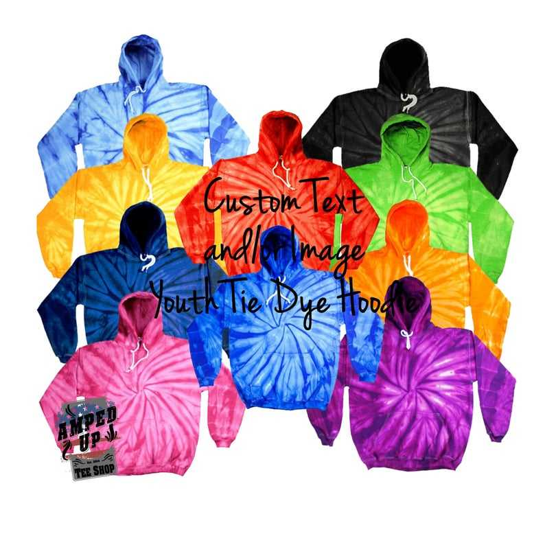 Custom fall tye dye tops for men women loose poleron tie dye sweat shirt colorful personalized bulk of hoodie