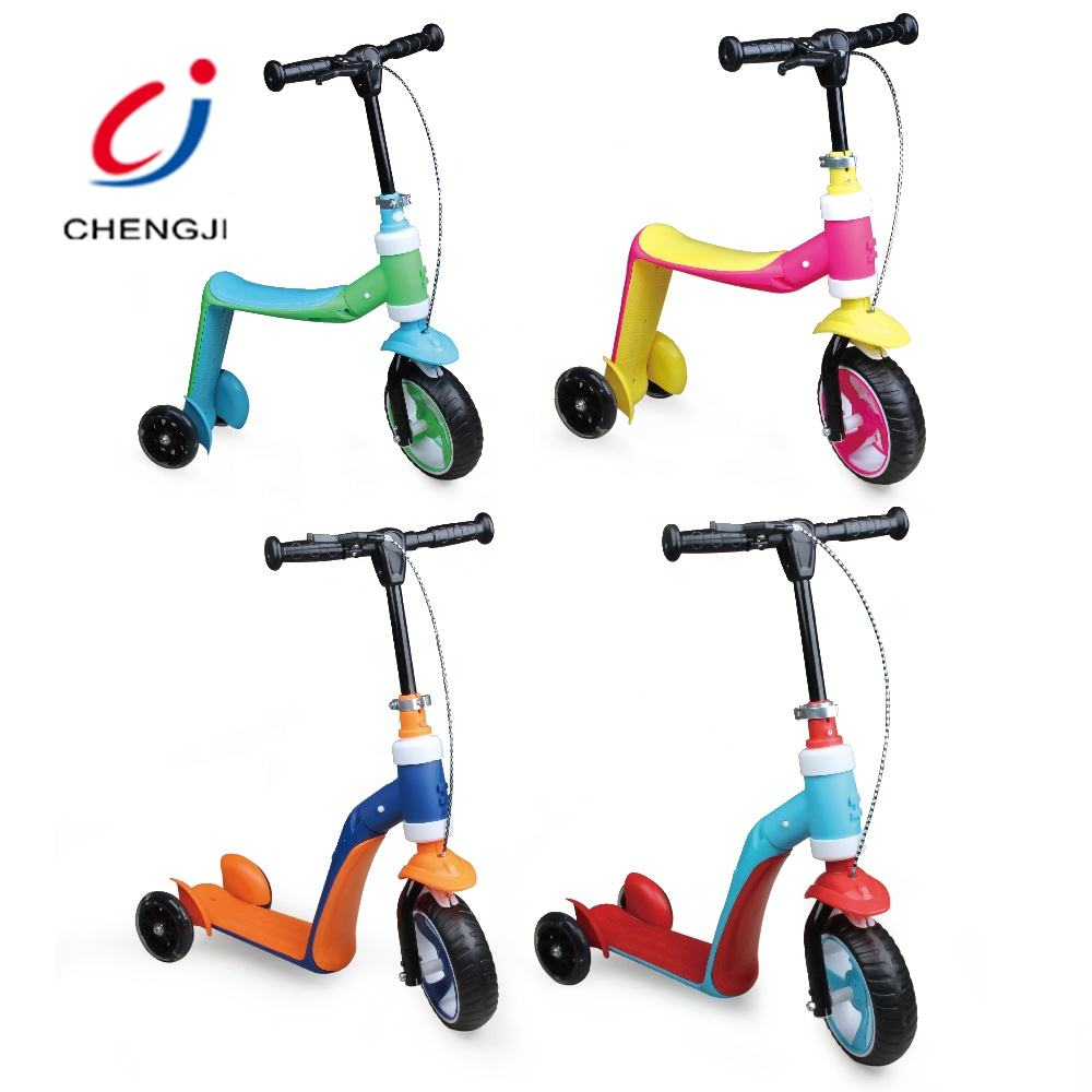 New style colorful children foot powered 3 wheel kids scooter with brake