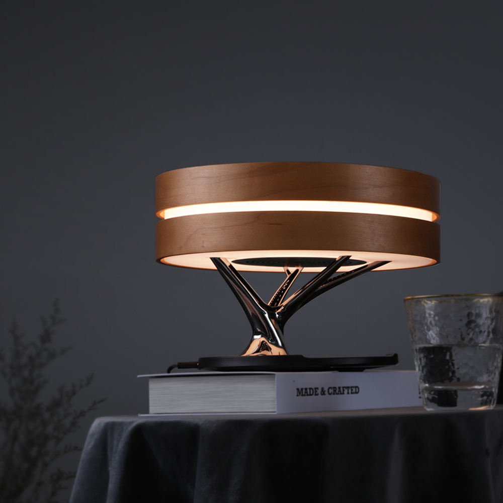 Hot sales tree lamp with wireless charging and bluetooth speaker for hotel home bedroom, bedside light