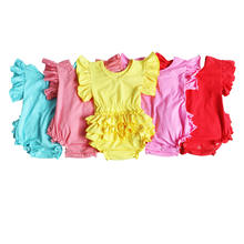 Wholesale Toddler Baby Clothing Summer Soft Organic Cotton Baby Romper Boutique Newborn Baby Clothes