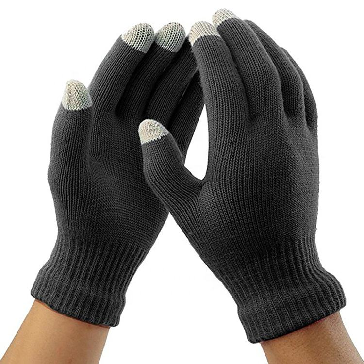 2020 Winter Magic Gloves Touch Screen Women Men Warm Stretch Knitted Wool Mittens Gloves