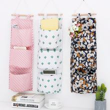 Saving space colorful flower waterproof oxford hanging wall file organizer storage