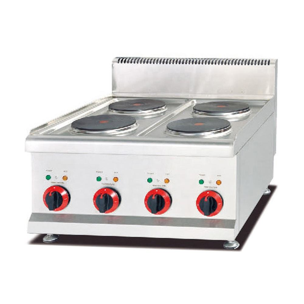High quality Stainless Steel counter top Heating Electric Cooking Range Hot Plate Cooker for restaurant