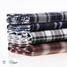 Modern design recycled polyester flannel fabric for shirt