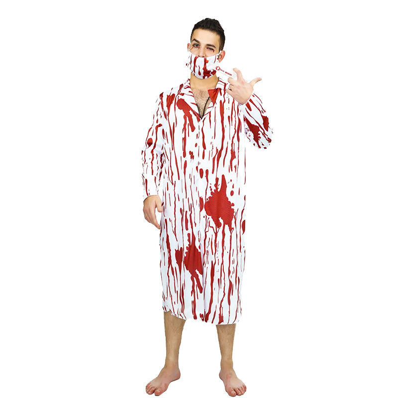 Scary Doctor Killer Costumes Halloween Party Fancy Dress Cosplay Doctor Killer Costume For Adult Men