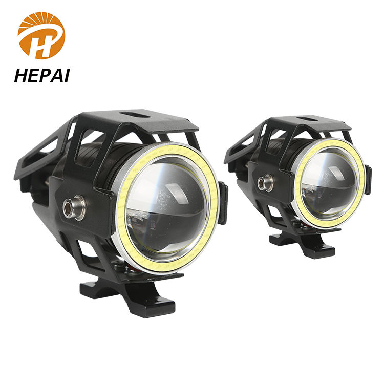 Zhongshan 12v car aluminium housing projector lens light angel eye led motorcycle headlight