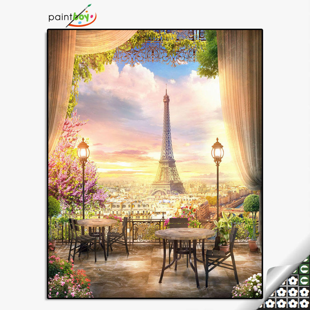 DIY art set paintboy diamond mosaic painting with wooden frame