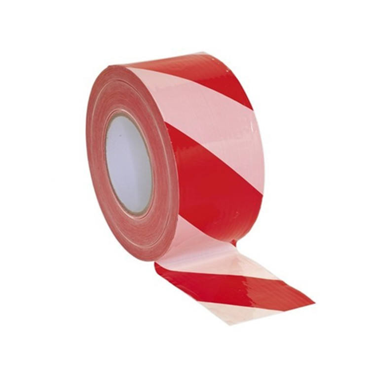 Hazard Red White PE Warning Tape Striped Custom Barrier Tape Non-Adhesive