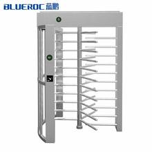 BlueRoc High Quality Single/Double Door Full Height Turnstile Pedestrian Gate Access Control RFID System