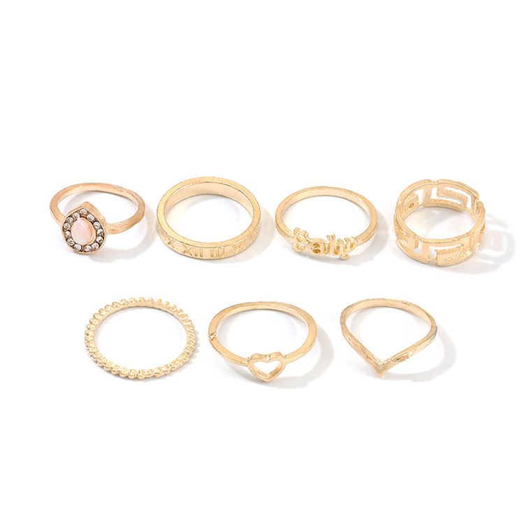 Korean Version Fashion Creative Ring Diamond Ring Sets