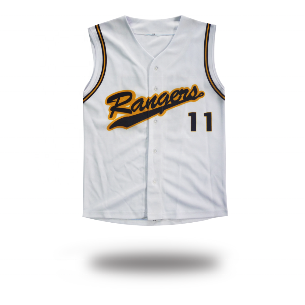 youth mens customized baseball vest with button down bas