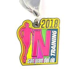 Supply custom logo enamel metal running sports medals