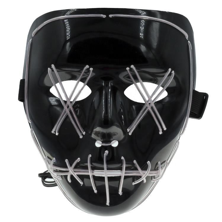 Halloween Kostuum LED Masker De Purge Movie EL Draad DJ Party Festival HQ Mode