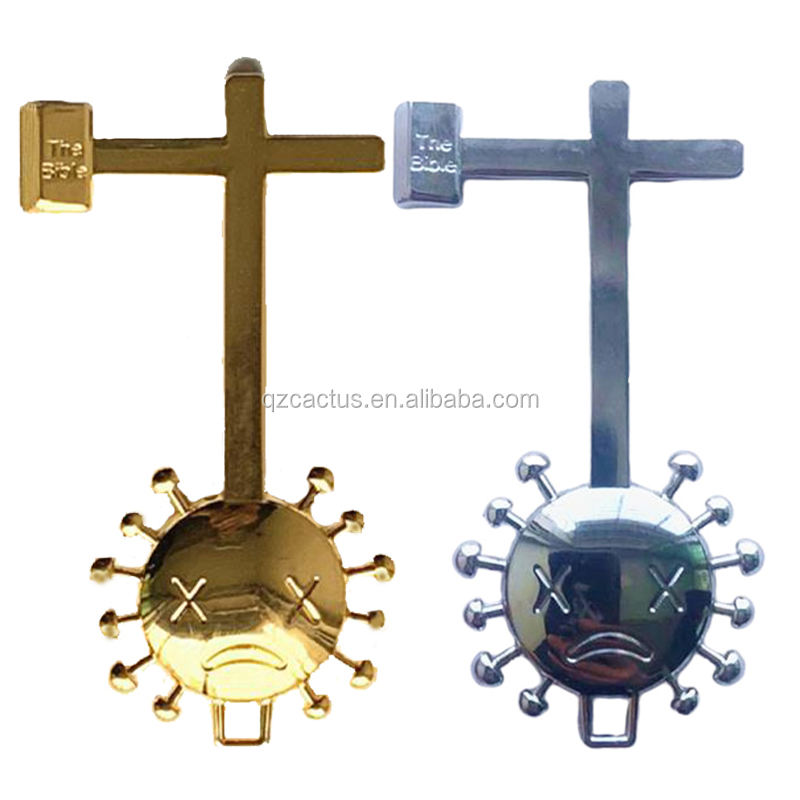 No Touch Door Opener EDC Non Contact brass or zinc alloy strong free hand fast delivery cross bible go away germs door opener