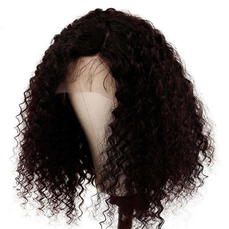 Brazilian natural raw remy cuticle aligned human hair lace frontal wig woman afro kinky curly hair lace front frontal wig