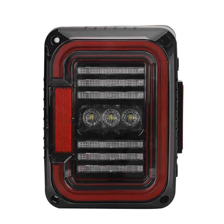 High quality 12V 24V truck reverse light car tail lamp with rear signal stop braking lights LED taillight for jeep wrangler JK