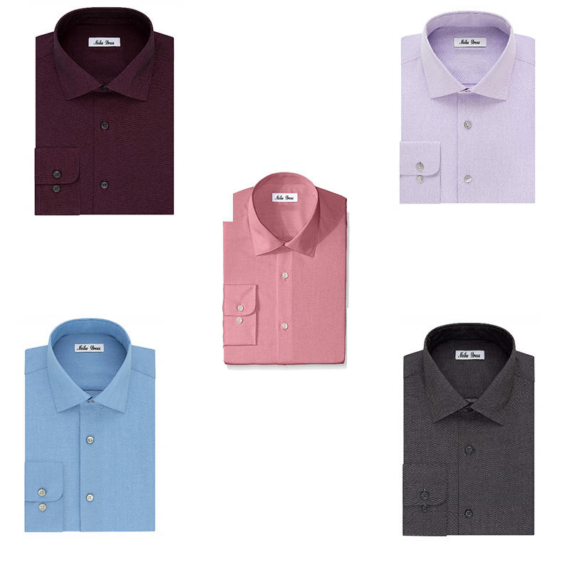 New Design Different Colors 100% Organic Cotton Long Sleeves Slim Fit Shirts for Men