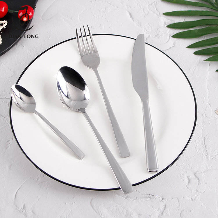 Stylish wedding knives and spoon fork set, cutlery set stainless steel flatware, luxury flatware set stainless steel cutlery