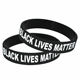 Dropshipping I Cant Breathe Custom Ankle Silicone Wristband Black Lives Matter Bracelet