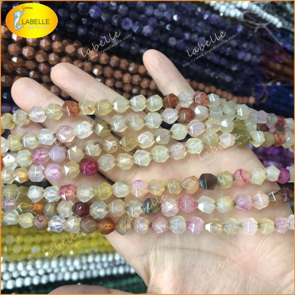 Multi Color Sapphire Faceted Rondelle Gemstone Beads 6mms